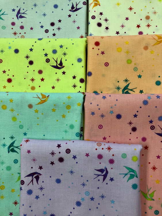 TULA PINK Fairy Dust 7 fat quarters