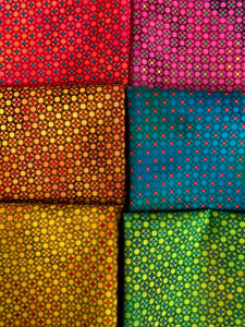UNUSUAL GARDEN Dotty Grid 6 fat quarters