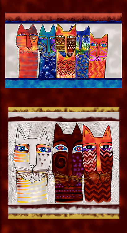 FELINE FROLIC Y2794-55M Panel multi