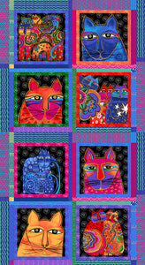 FELINE FROLIC Y2796-55M Panel multi