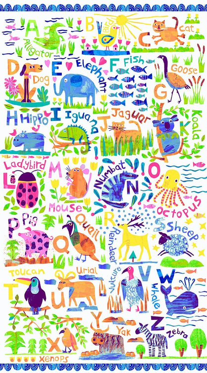 "ANIMAL MAGIC Panel multi bright 24""x43"""
