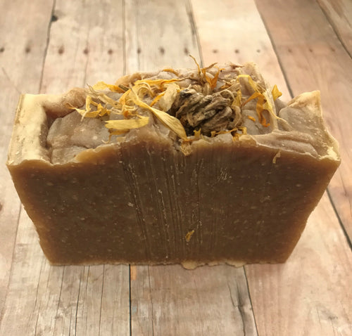 Calendula + Honey Cold Process Soap All Natural Organic Olive Oil, Organic Coconut Oil, Raw Honey, All Natural Fragrance