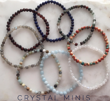 Aquamarine Crystal Mini Natural 4mm Gemstone Bracelet