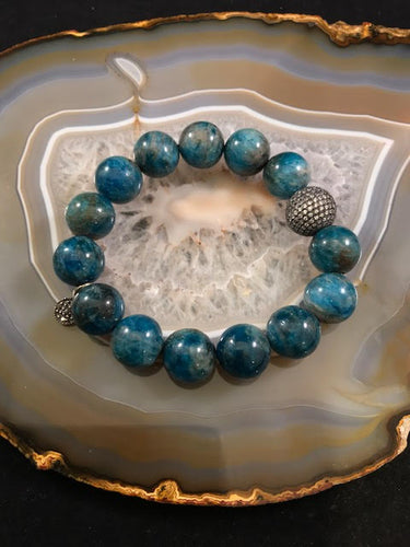 Apatite Gemstone Stretch Bracelet