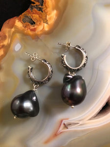 Baroque Pearl and Marcasite