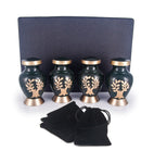 SMALL KEEPSAKE URN COLLECTION - GOLDEN TREE OF ETERNITY - SET OF 4
