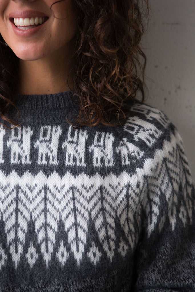 Classic Alpaca Jumper with Andina Yoke