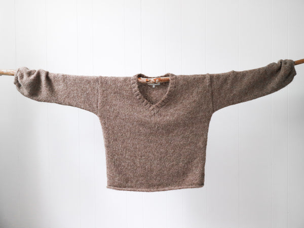 Marlee V-neck Suri Jumper - Natural