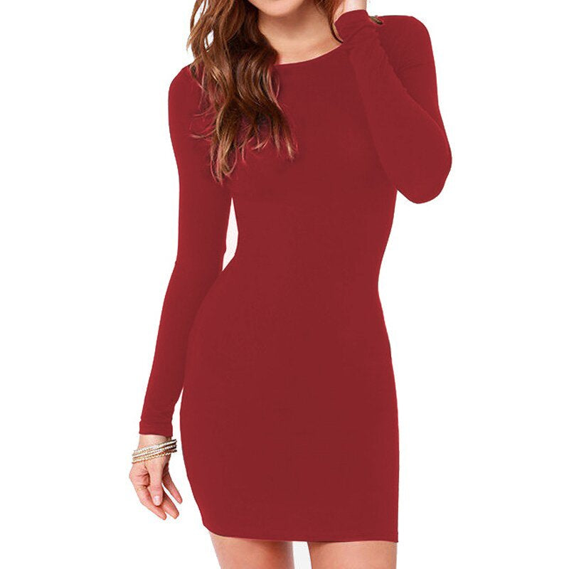 """Casual"" Long Sleeve Dress - All Gas No Brakez"
