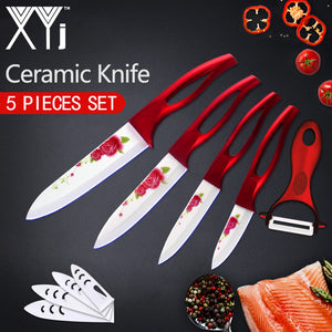 5 Piece Decorated Kitchen Knife Set - allgasnobrakez.com