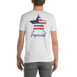 Short-Sleeve Unisex Red White and Blue T-Shirt