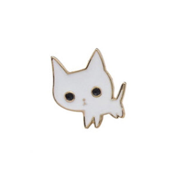 Alloy Enamel Pink Wine Glass Cup Bottle Hand Rose Cat Broche Badges Lapel Pins Safe Brooche Scarf Women Gifts New Trend - W&C Shop