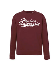 Sweatshirt Organic Line Hamburg University - Burgundy