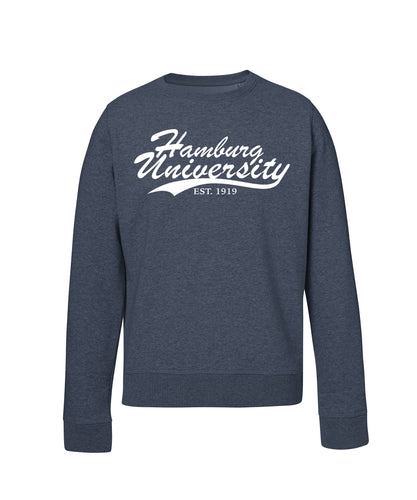 Sweatshirt Organic Line Hamburg University - Dark Heather Blue