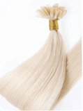 Slavic Hair Extensions - Pearl Blond Keratin Bondings