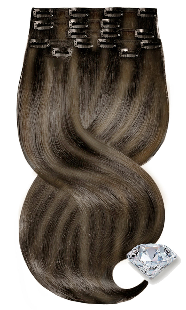 Ombre Balayage Light Natural Brown & Salty Caramel Hair Extensions
