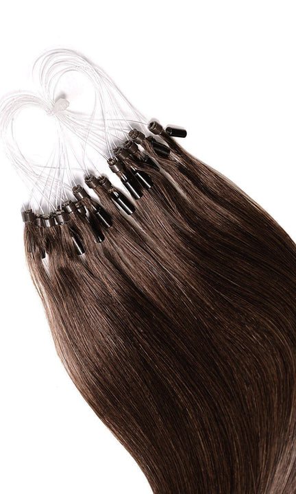 PRO DELUXE LINE Chestnut Flash Brown Microring Extensions