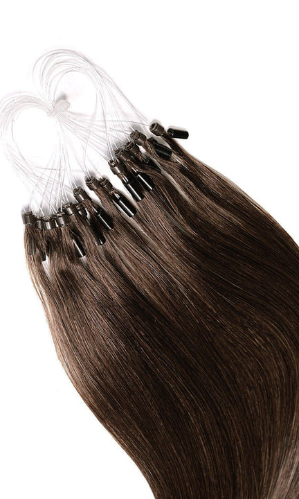 PRO DELUXE LINE Chocolate Roast Brown Microring Extensions