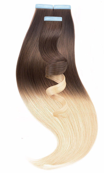 PRO DELUXE LINE OMBRÉ Chocolate Roast Brown & Pearl Blond - Rubin Extensions Australia