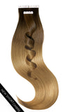 PRO DELUXE LINE OMBRÉ Tape-In Hair Extensions Chocolate Roast Brown & Salty Caramel