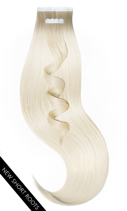 Ombre Light Hazelnut and Summer Blonde Tape-In Remy Hair Extensions