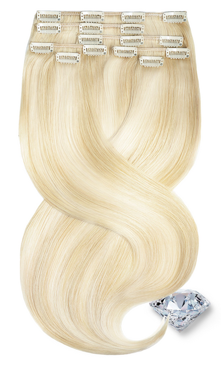 PURE DIAMONDS LINE Golden Queen & Pearl Blond Clip-In Hair Extensions - Rubin Extensions Australia