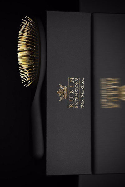 The Perfect Hairbrush - Golden Princess Hair Brush from Rubin Extensions