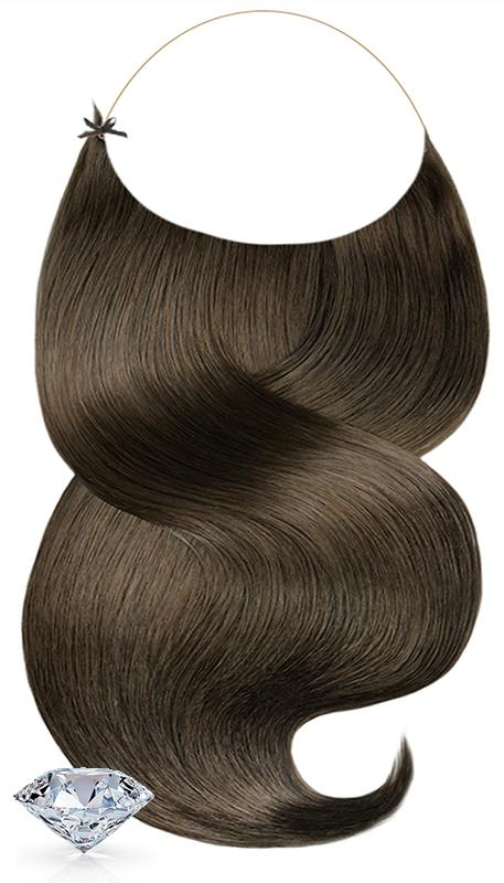 PURE DIAMONDS LINE Chocolate Roast Brown One Piece Hair Extensions
