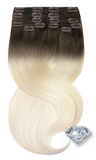 Clip-in Sombre Beige Hair Extensions