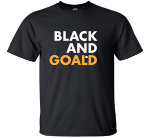 Black and Goald Unisex T-Shirt