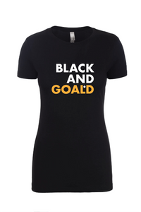 Black and Goald Women's T-Shirt