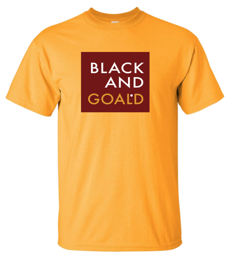 Black and Goald GOALDen Tee