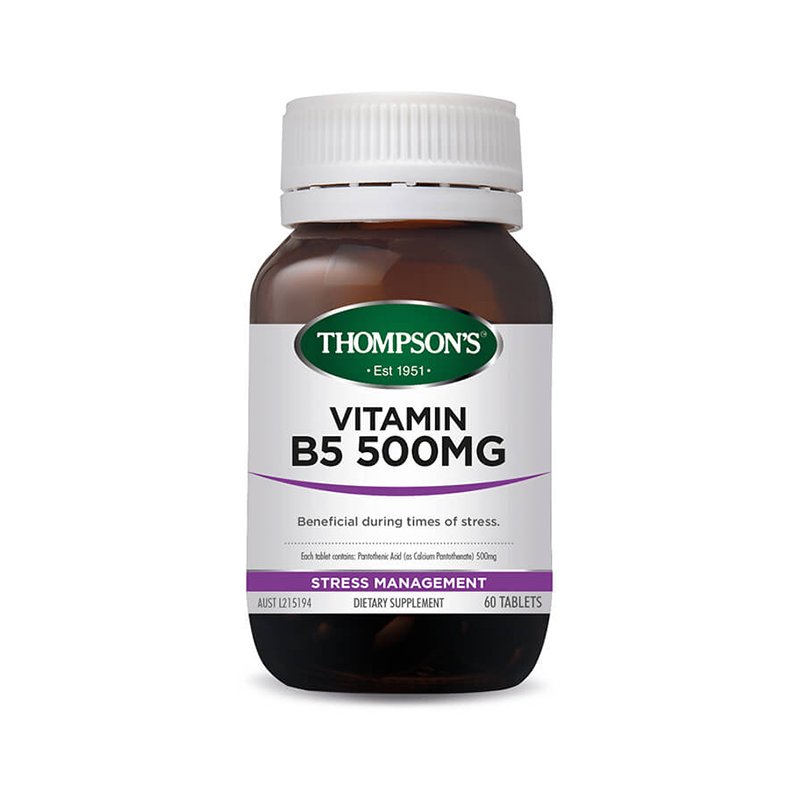 Thompson's Vitamin B5 500mg (Pantothenic Acid)