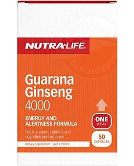 Nutra Life Guarana Ginseng 4000mg