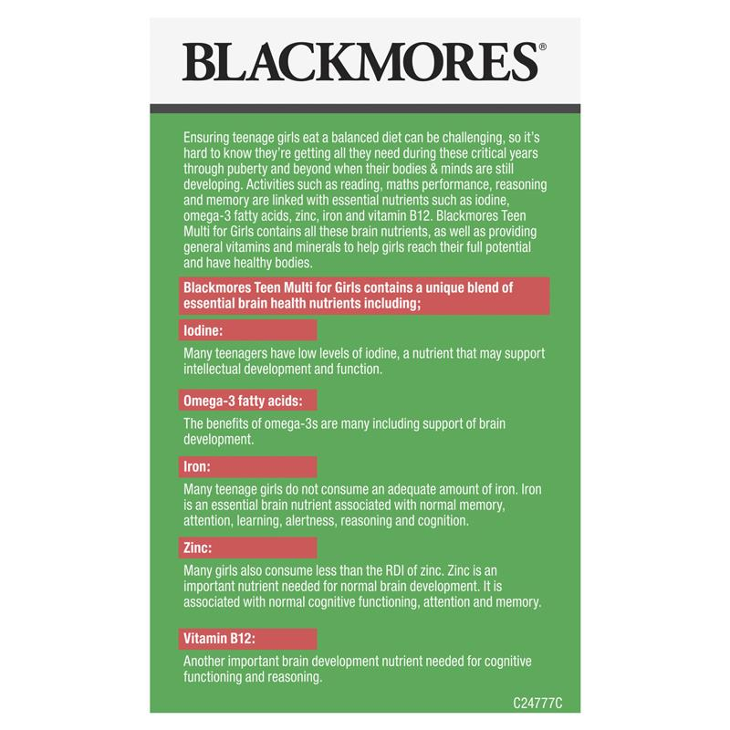 Blackmores Teen Multi for Girls Capsules