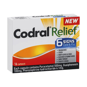 Codral Relief 6 Signs - 16 Capsules