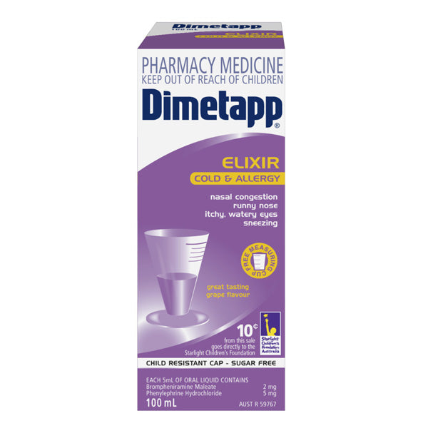 Dimetapp Cold & Allergy Elixir 100ml