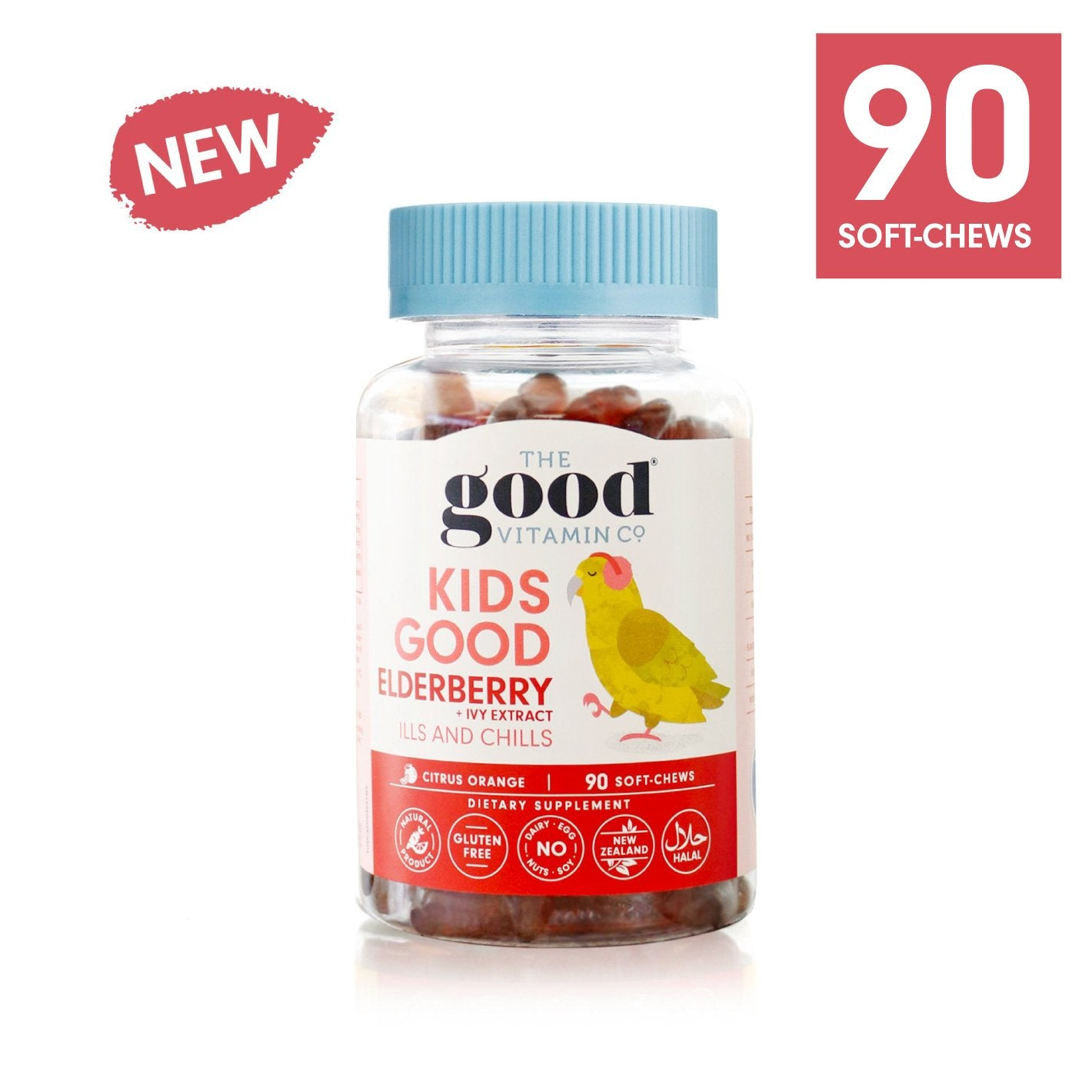 The Good Vitamin Co. Kids Good Elderberry + Ivy Extract 90 Soft Chews