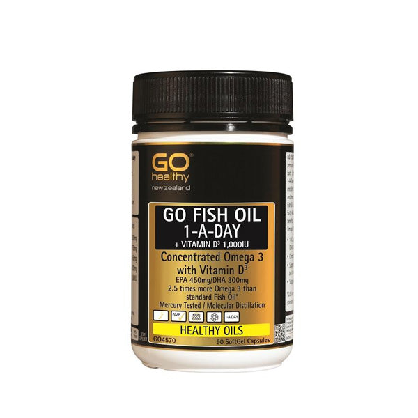 Go Fish Oil One-A-Day Vit D3 1000IU
