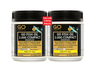 Go Healthy Fish Oil 2000mg Odourless 220 Capsules TWIN PACK