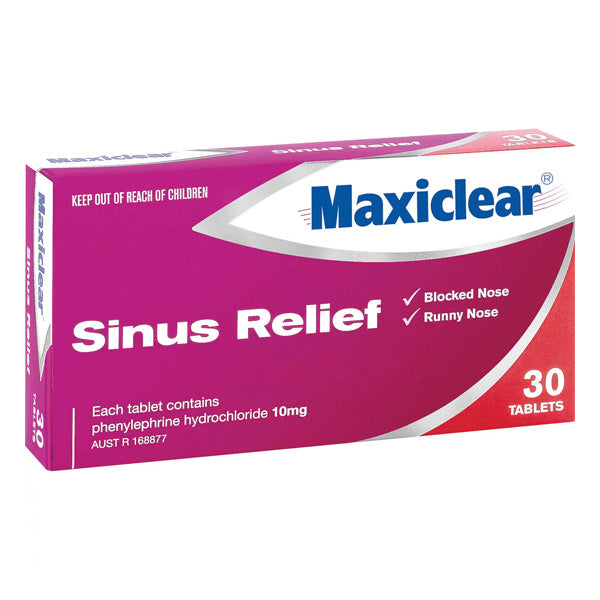 Maxiclear Sinus Relief Tablets 30s