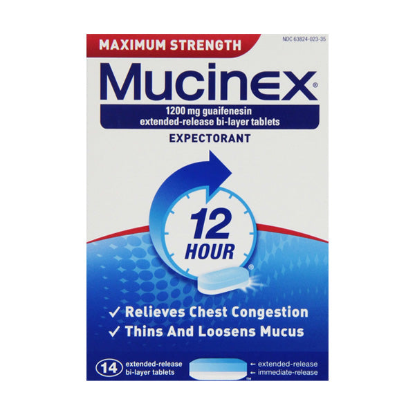 Mucinex Max Strength 1200mg 14s