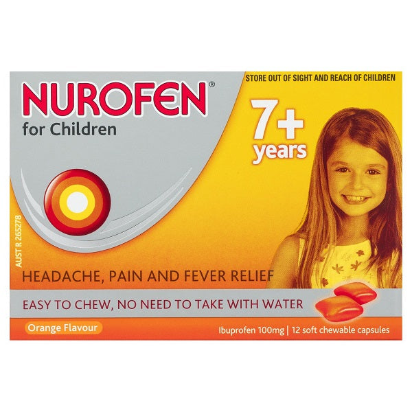 Nurofen Children 7+ Chew Orange