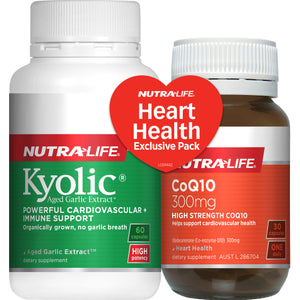 Nutra Life Kyolic Garlic & CoQ10 300mg 60 + 30's Exclusive Pack