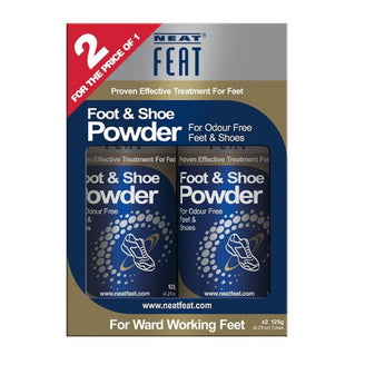 Neat Feat Shoe Powder 2For1 2x125g