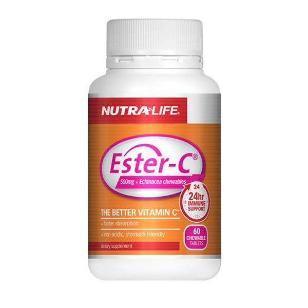 Nutra Life Ester C 500mg Echinacea Chew