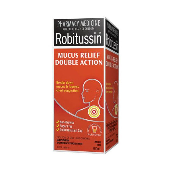 Robitussin Mucus Relief Double Action 200ml