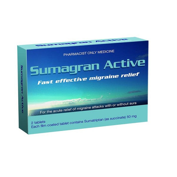 Sumagran Active 50mg Tablets 2Pk