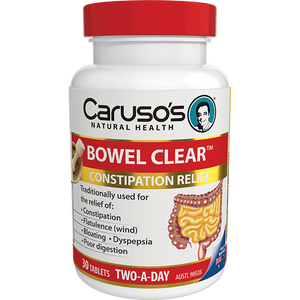 Carusos Natural Health Bowel Clear  30's