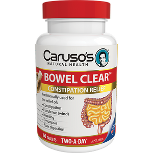 Carusos Natural Health Bowel Clear  60's